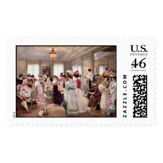 KRW Five Hours at Paquin Gervex Vintage Stamp
