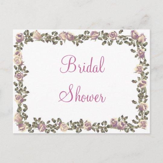 krw floral border custom bridal shower invitation