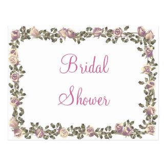 KRW Floral Border Custom Bridal Shower Invitation Post Cards