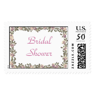 KRW Floral Border Wedding Shower Stamp