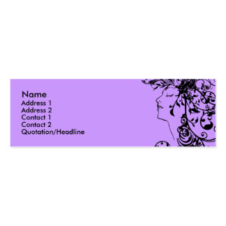 KRW Flourishing Beauty Profile Card Business Card Template