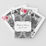 KRW French Black Lace Custom Wedding Favor Cards Bicycle Playing Cards