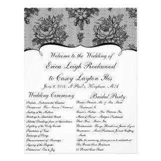 KRW French Black Lace Custom Wedding Program