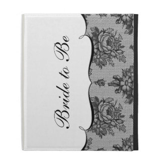 KRW French Black Lace Wedding iPad Folio Case
