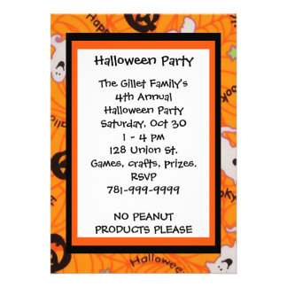 KRW Fun Happy Halloween Custom Party Invitation