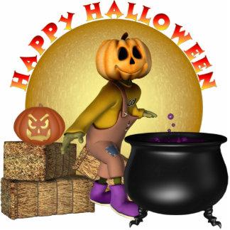 KRW Fun Happy Halloween Small Table Display Standing Photo Sculpture