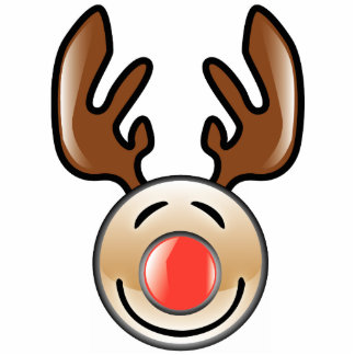 KRW Fun Icon Style Reindeer Christmas Ornament