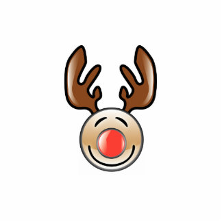KRW Fun Icon Style Reindeer Christmas Pin Cutout