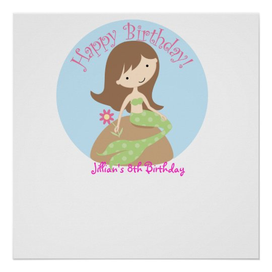 KRW Fun Lil Mermaid Birthday Autograph Poster