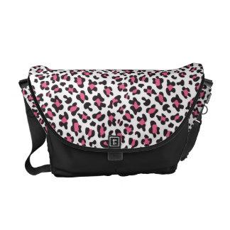 KRW Fun Pink Leopard Print Messenger Bag