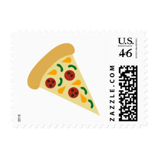 KRW Fun Pizza Slice Postage Stamp