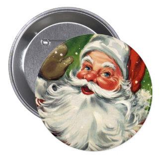 KRW Fun Vintage Santa Claus 3 Inch Round Button