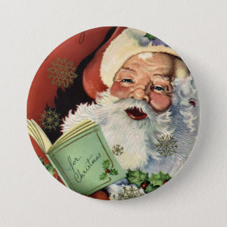 KRW Fun Vintage Santa Claus Button