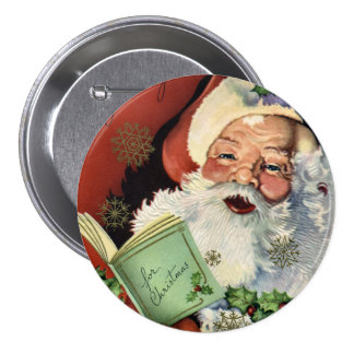 KRW Fun Vintage Santa Claus Button