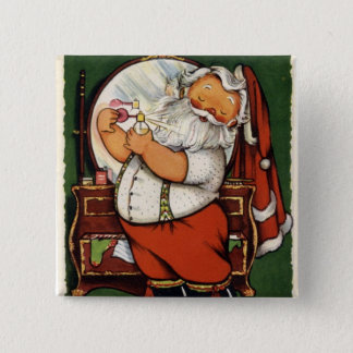 KRW Fun Vintage Santa Claus Pinback Button