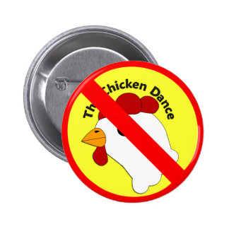 KRW Funny No Chicken Dance Wedding Pinback Buttons