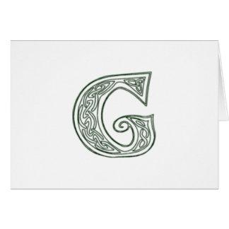 KRW - G - Celtic Monogram Card - Blank