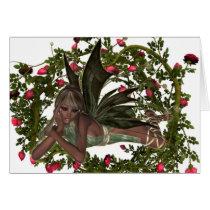 KRW Garden Faery African American Custom Card