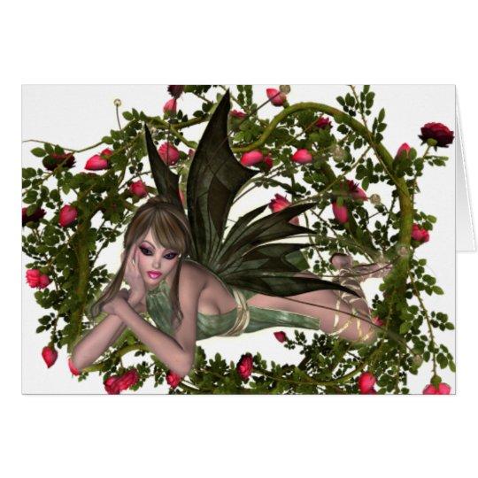 KRW Garden Faery Brunette Custom Card