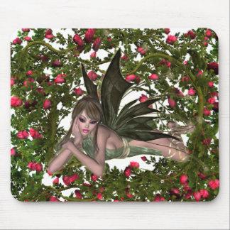 KRW Garden Faery - Brunette Mouse Pad