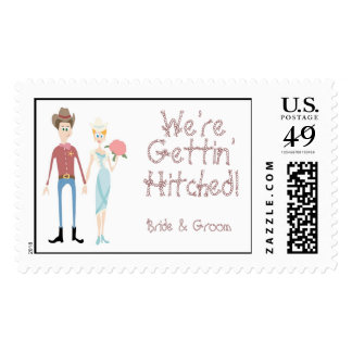 KRW Gettin' Hitched Country Wedding Stamp
