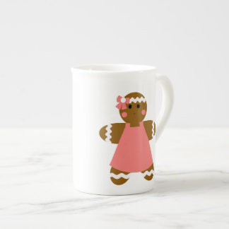 KRW Gingerbread Boy and Girl Bone China Mug Tea Cup