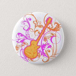 KRW Girl's Rock Guitar Grunge Pinback Button