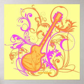 KRW Girl's Rock Guitar Grunge Poster