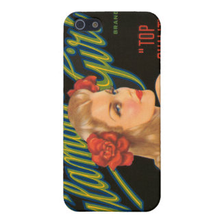 KRW Glamour Girl Vintage Crate Label  Cover For iPhone SE/5/5s