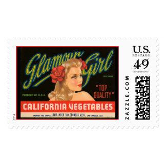 KRW Glamour Girl Vintage Crate Label Stamp