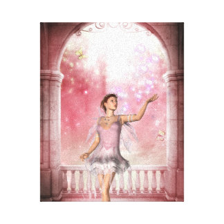 KRW Gloaming in Pink Fantasy Art Canvas Canvas Print