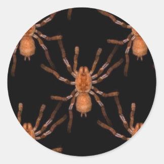 KRW Glowing Orange Tarantula Halloween Sticker