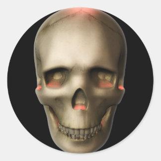 KRW Glowing Skull Halloween Sticker