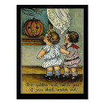 KRW Goblins Will Get You Vintage Halloween Post Card