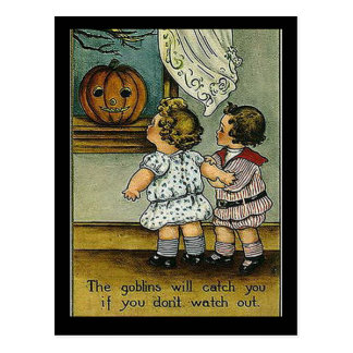 KRW Goblins Will Get You Vintage Halloween Postcard