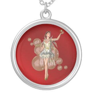 KRW Golden Bubble Fairy Fantasy Silver Necklace