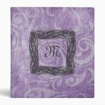 KRW Gothic Swirls Monogram Purple Binder/Album *