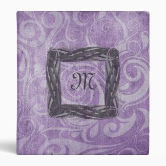 KRW Gothic Swirls Monogram Purple Binder/Album * Binder