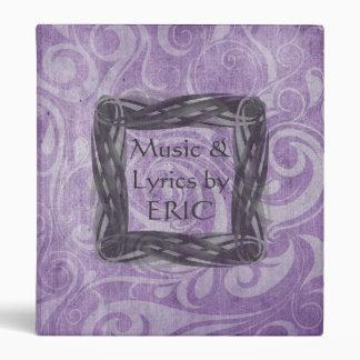 KRW Gothic Swirls Music Lyrics Binder/Album * 3 Ring Binder