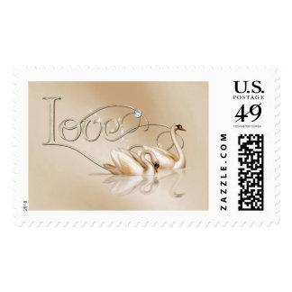 KRW Graceful Swans Love Wedding Postage