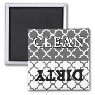 KRW Gray Kitchen Clean and Dirty Dishwasher Magnet