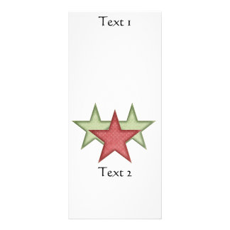 KRW Green and Red Christmas Stars Rack Card