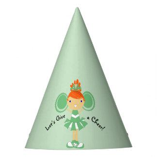 KRW Green Cheerleader Birthday Party Hat