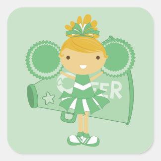 KRW Green Cheerleader Sticker Favor
