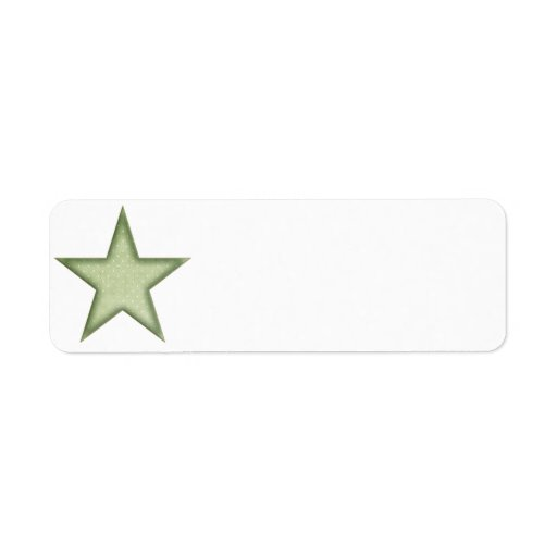 KRW Green Christmas Star Small Blank Label
