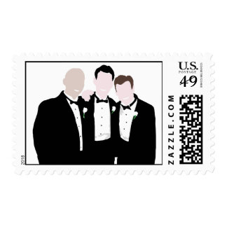 KRW Groomsmen Wedding Stamp