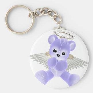 KRW Guardian Angel Bear Basic Round Button Keychain