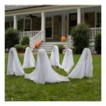 KRW Halloween Decor Poster Gaggle of Ghosts