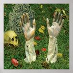 KRW Halloween Decor Poster Hands Up Zombie