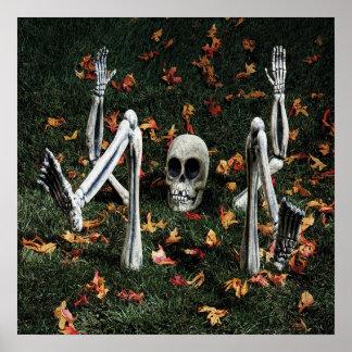 KRW Halloween Decor Poster Mr Underhill Skeleton